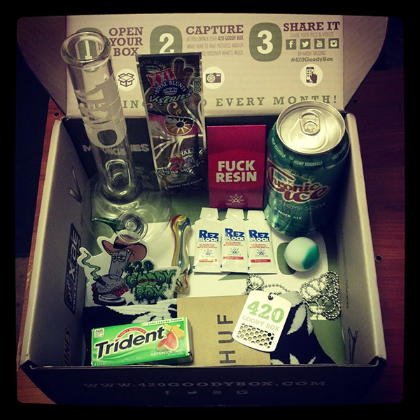 May's 420 Goody Box Contents (Click for Original)