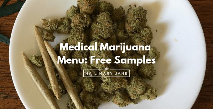 Medical Marijuana Menu Free Samples