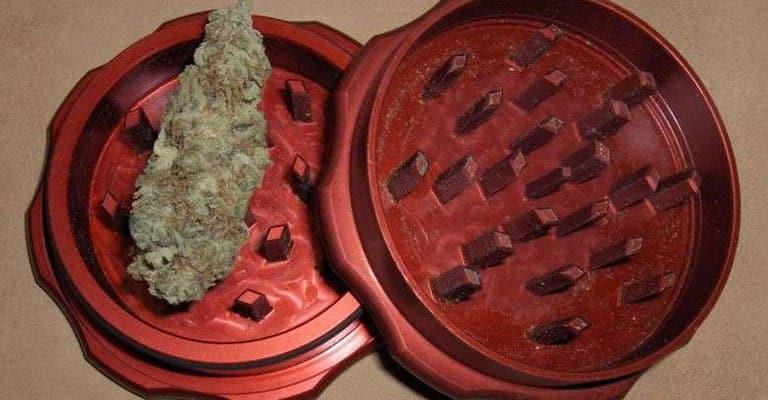 weed grinder red