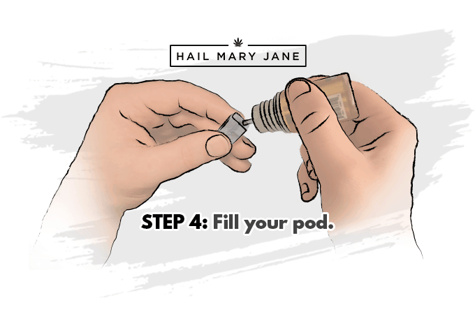 step4 refill juul weed pods