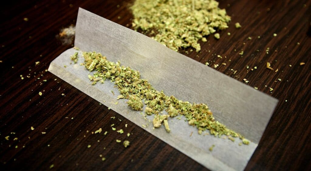 how many mg of thc in a joint